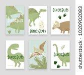 dinosaurs vector design ... | Shutterstock .eps vector #1020902083
