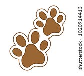 dogs footprints isolated icon | Shutterstock .eps vector #1020914413