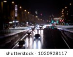 colorful night traffic in the... | Shutterstock . vector #1020928117
