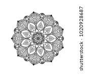 mandala lotus drawing for... | Shutterstock . vector #1020928687