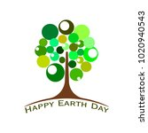 happy earth day | Shutterstock .eps vector #1020940543