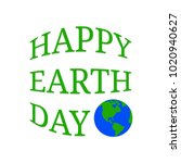 happy earth day | Shutterstock .eps vector #1020940627