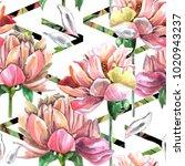watercolor seamless pattern of ... | Shutterstock . vector #1020943237