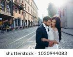 sunny sensitive wedding... | Shutterstock . vector #1020944083
