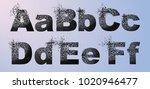 vector alphabet set  letters... | Shutterstock .eps vector #1020946477