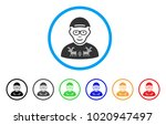 nerd guy rounded icon. style is ...   Shutterstock .eps vector #1020947497