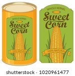vector illustration of tin can... | Shutterstock .eps vector #1020961477