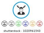 horned boyfriend rounded icon....   Shutterstock .eps vector #1020961543