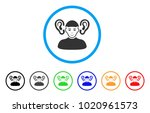 listener guy rounded icon.... | Shutterstock .eps vector #1020961573