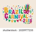 brazil carnival 2018 background ... | Shutterstock .eps vector #1020977233