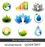 beautiful nature and health... | Shutterstock .eps vector #102097897