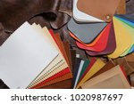 leather craft or leather... | Shutterstock . vector #1020987697