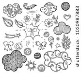 set of fashionable patches... | Shutterstock . vector #1020987883