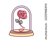 Vector Cute Single Rose Under...