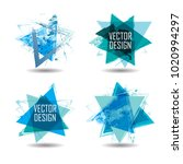 triangle retro shape. banners ... | Shutterstock .eps vector #1020994297
