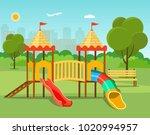 kids playground  city park set. ... | Shutterstock .eps vector #1020994957