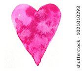 watercolor splash heart | Shutterstock . vector #1021010293