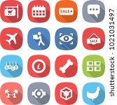 flat vector icon set   shop... | Shutterstock .eps vector #1021031497