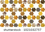 geometric pattern of folded... | Shutterstock . vector #1021032757