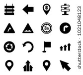solid vector icon set   sign... | Shutterstock .eps vector #1021048123