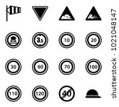 solid vector icon set   side...   Shutterstock .eps vector #1021048147
