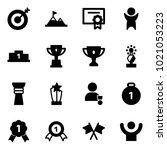 solid vector icon set   target... | Shutterstock .eps vector #1021053223