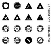 solid vector icon set  ...   Shutterstock .eps vector #1021055797