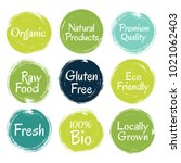 fresh  raw food  eco friendly ... | Shutterstock .eps vector #1021062403