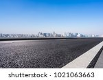 empty road with panoramic...   Shutterstock . vector #1021063663
