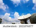 television antenna antenna on... | Shutterstock . vector #1021076377