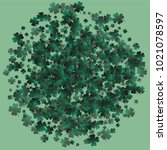 clover isolated is a confetti... | Shutterstock .eps vector #1021078597