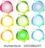colorful icon set   Shutterstock .eps vector #1021086247