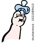 cartoon vector illustration of... | Shutterstock .eps vector #1021089613