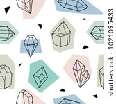 seamless pattern with diamonds  ... | Shutterstock .eps vector #1021095433