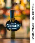 a guinness beer tap at an...   Shutterstock . vector #1021095913
