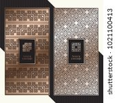 luxury cards. vector menu... | Shutterstock .eps vector #1021100413