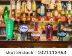 interior of an irish bar...   Shutterstock . vector #1021113463
