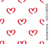 red symbolic hearts seamless... | Shutterstock .eps vector #1021148533