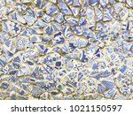 the colorful mosaics floor from ... | Shutterstock . vector #1021150597