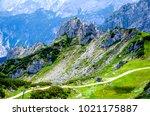 landscape at the zugspitze... | Shutterstock . vector #1021175887