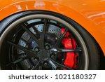 close up magnesium alloy wheel. | Shutterstock . vector #1021180327
