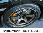 close up magnesium alloy wheel. | Shutterstock . vector #1021180333