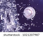 baseball ball in motion... | Shutterstock . vector #1021207987