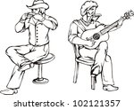 folk rock. vector illustration | Shutterstock .eps vector #102121357