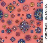 seamless pattern with... | Shutterstock .eps vector #1021220527