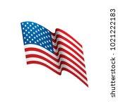 usa flag isolated | Shutterstock .eps vector #1021222183