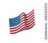 usa flag isolated   Shutterstock .eps vector #1021222213