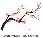 Branch With Asian Traditional...