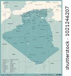 algeria map   vintage high... | Shutterstock .eps vector #1021246207