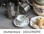 composition with homemade...   Shutterstock . vector #1021250293
